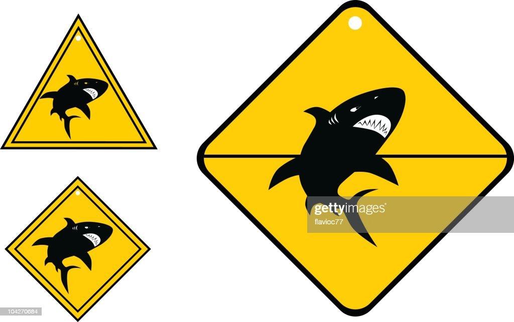 Zona de tiburón : Ilustración de stock