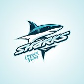 sharks design for a club or sport team
