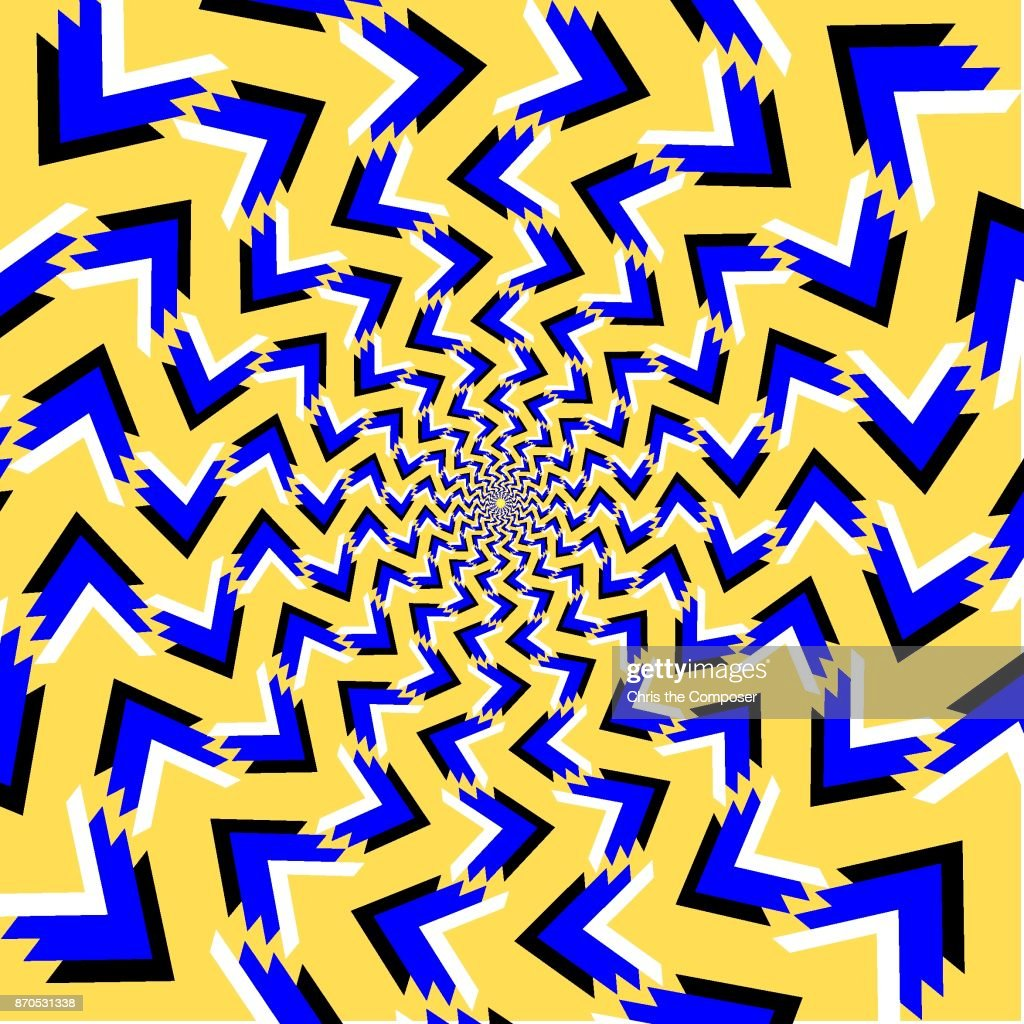 Sharp triangle optical illusion with moving pieces