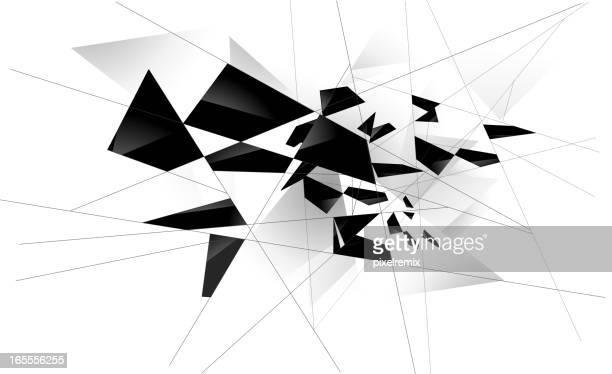 shattered glass white - broken stock illustrations