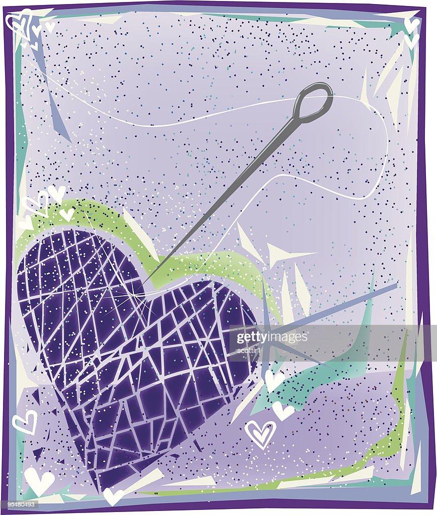 Shattered Heart : stock illustration