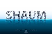 Shaum typography background