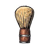 Shaving brush. Vector color illustrations on white backgrounds.