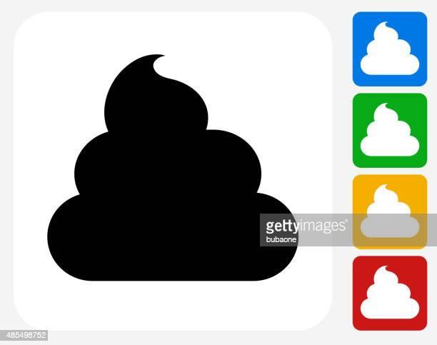 illustrazioni stock, clip art, cartoni animati e icone di tendenza di crema da barba icona piatto di design grafico - cacca