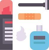 Shaving icons vector set.