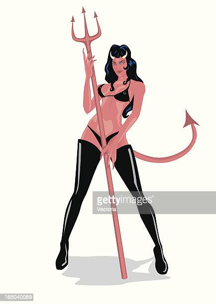 diablesse - human sexual behavior stock illustrations, clip art, cartoons, & icons