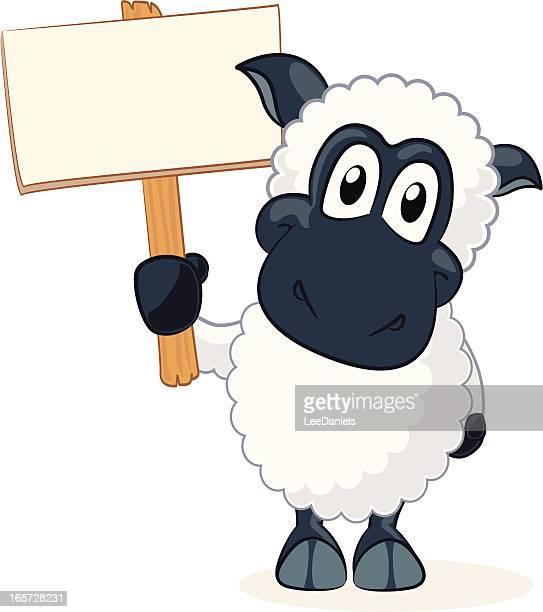 sheep cartoon - sheep stock illustrations, clip art, cartoons, & icons