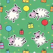Sheep & gift pattern