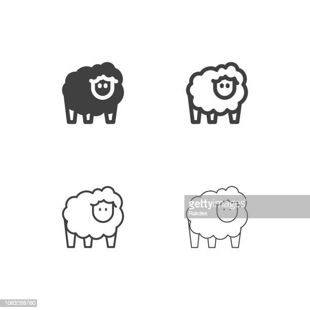 sheep icons - multi series - sheep stock illustrations, clip art, cartoons, & icons