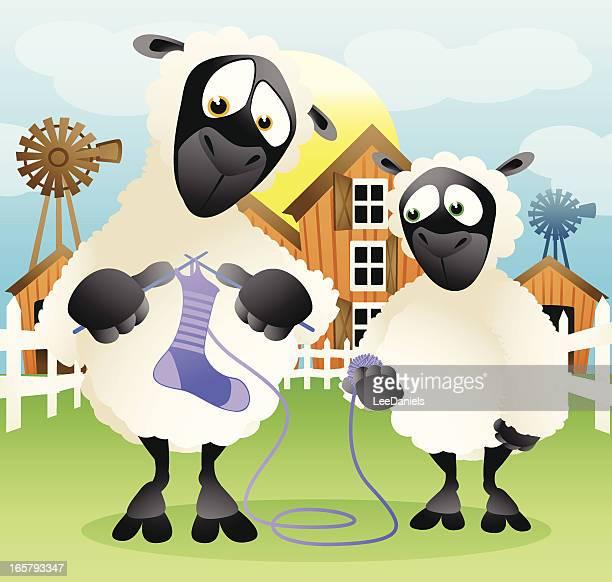 Punto en la granja ovina