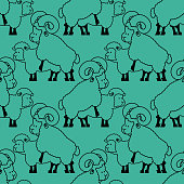Sheep sex pattern. Farm animal intercourse ornament. Beasts reproduction background. Adult texture