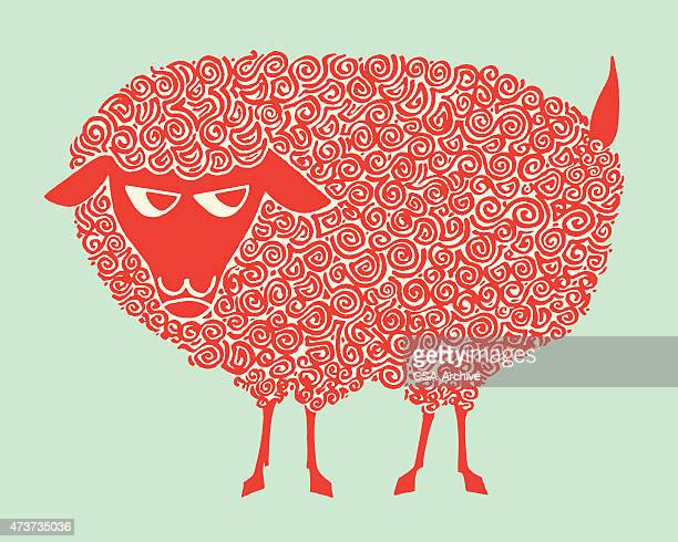 sheep - sheep stock illustrations, clip art, cartoons, & icons
