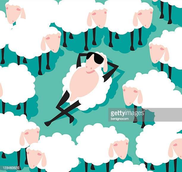 illustrations, cliparts, dessins animés et icônes de moutons avec lunettes de soleil - mou