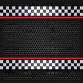 Sheet metallic perforated for race