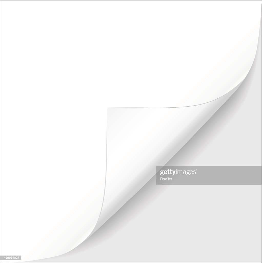 Sheet of paper. Vector illustration
