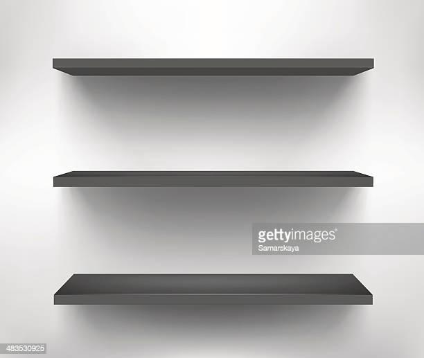 shelf - retail display stock illustrations