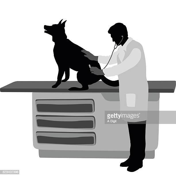 sheperd appointment - veterinarian stock illustrations, clip art, cartoons, & icons