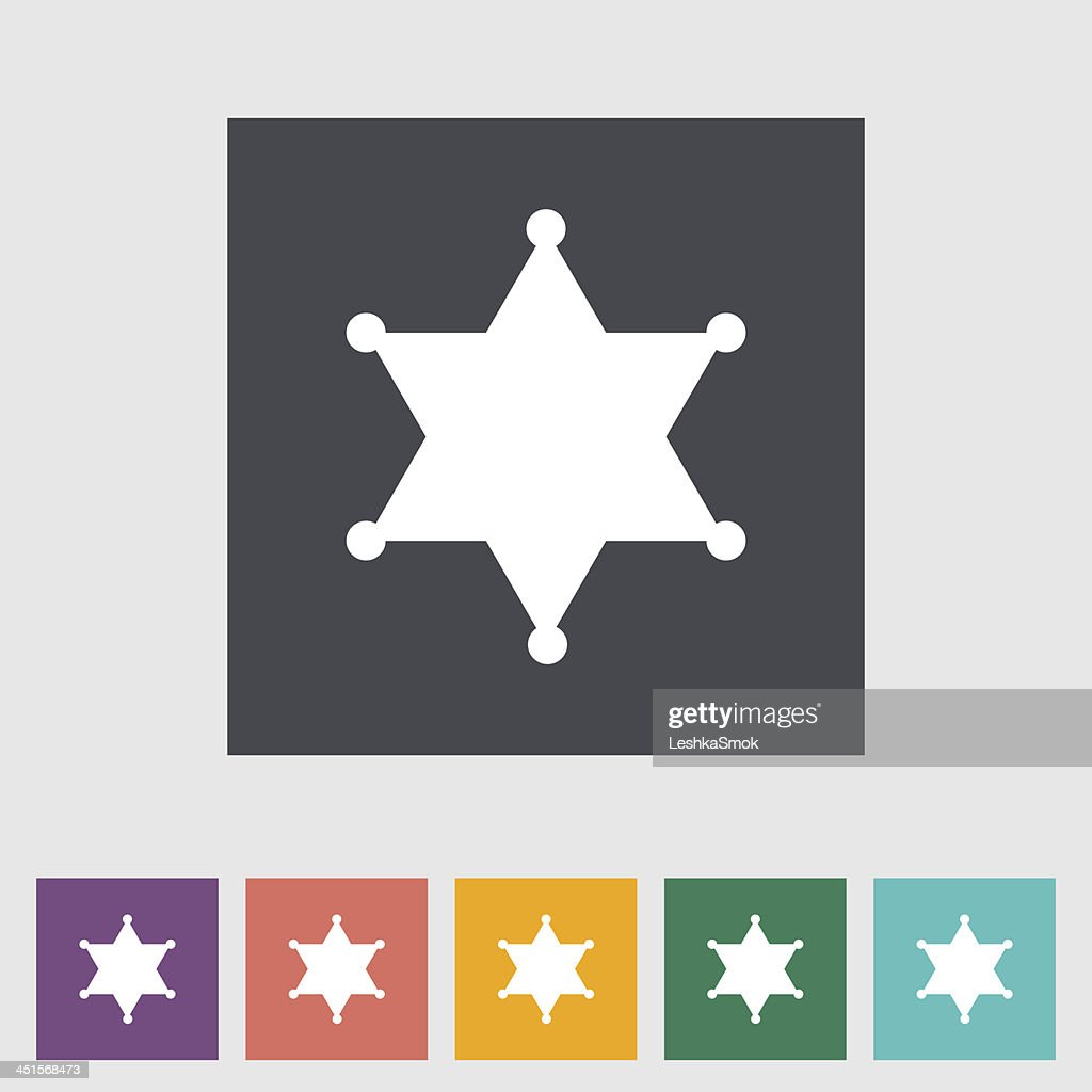 sheriff badge decal template with multiple colors vector art getty