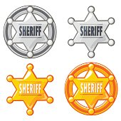 Sheriff Marshal Star Gold and silver Medal