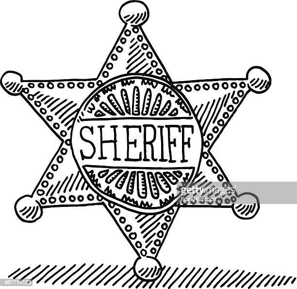 Sheriff Star Badge Drawing