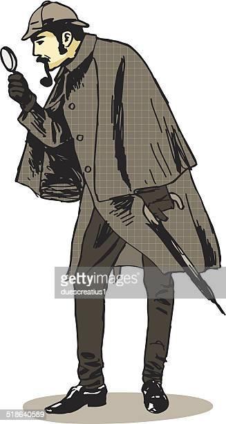 60点のシャーロックホームズのイラスト素材クリップアート素材