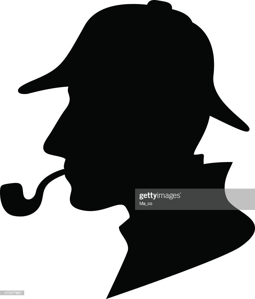 Sherlock Holmes Silhouette / Detective Symbol