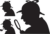 Sherlock Holmes silhouette famous detective