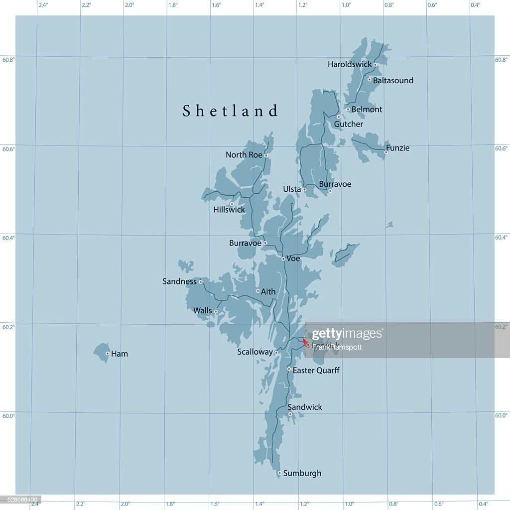 Shetland islands vector road map vector art getty images shetland islands vector road map vector art gumiabroncs Image collections