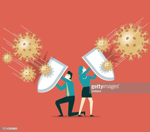 shield against coronavirus - shield stock illustrations