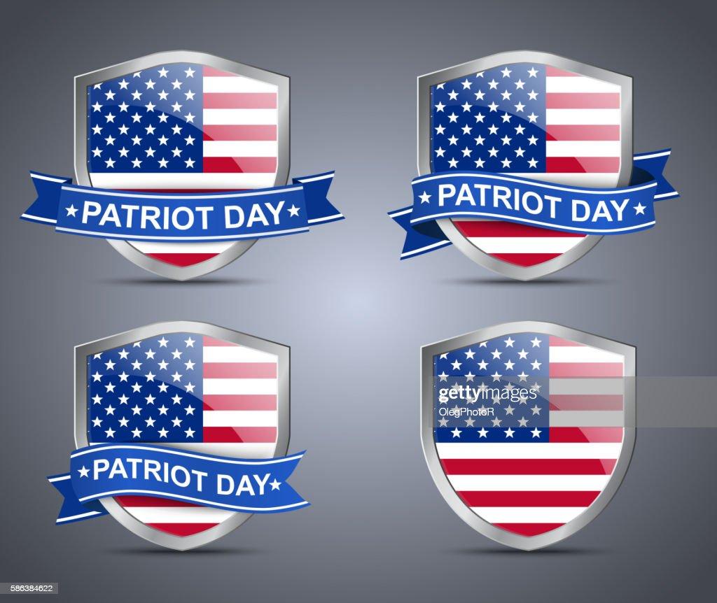 Shield and flag USA
