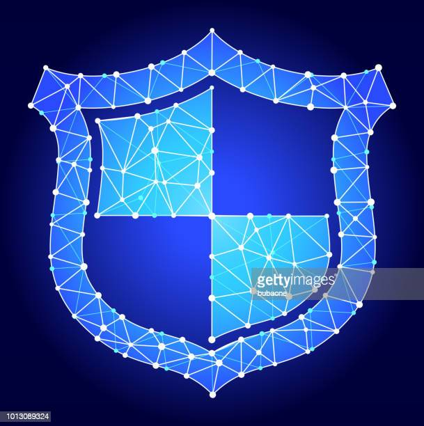 Shield  Blue Triangle Node Vector Pattern
