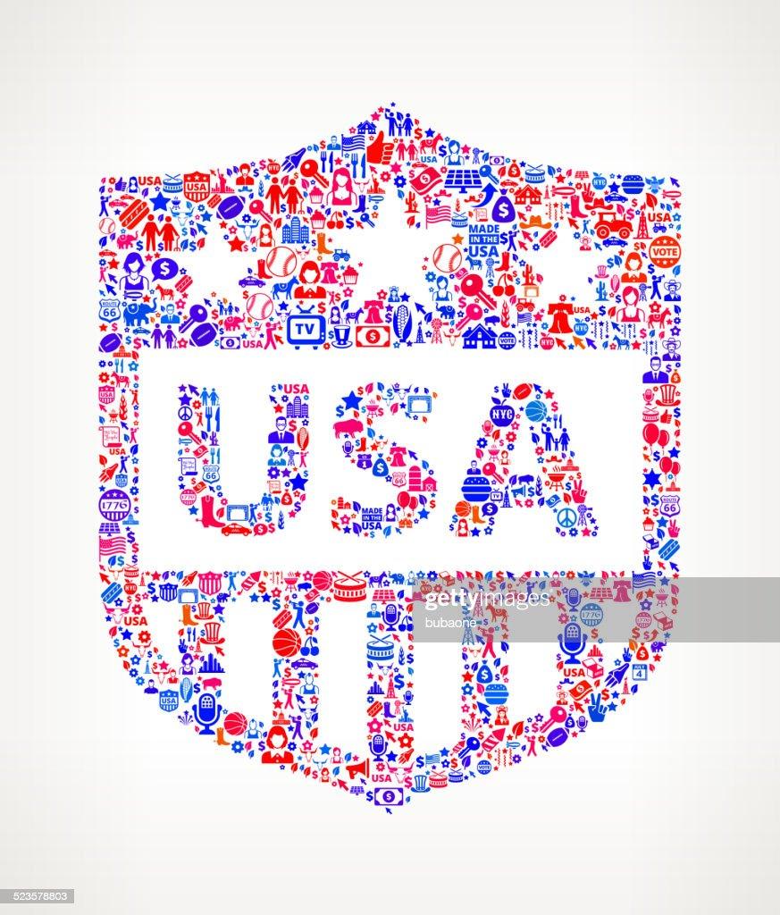 Shield Emblem US royalty free vector art Pattern