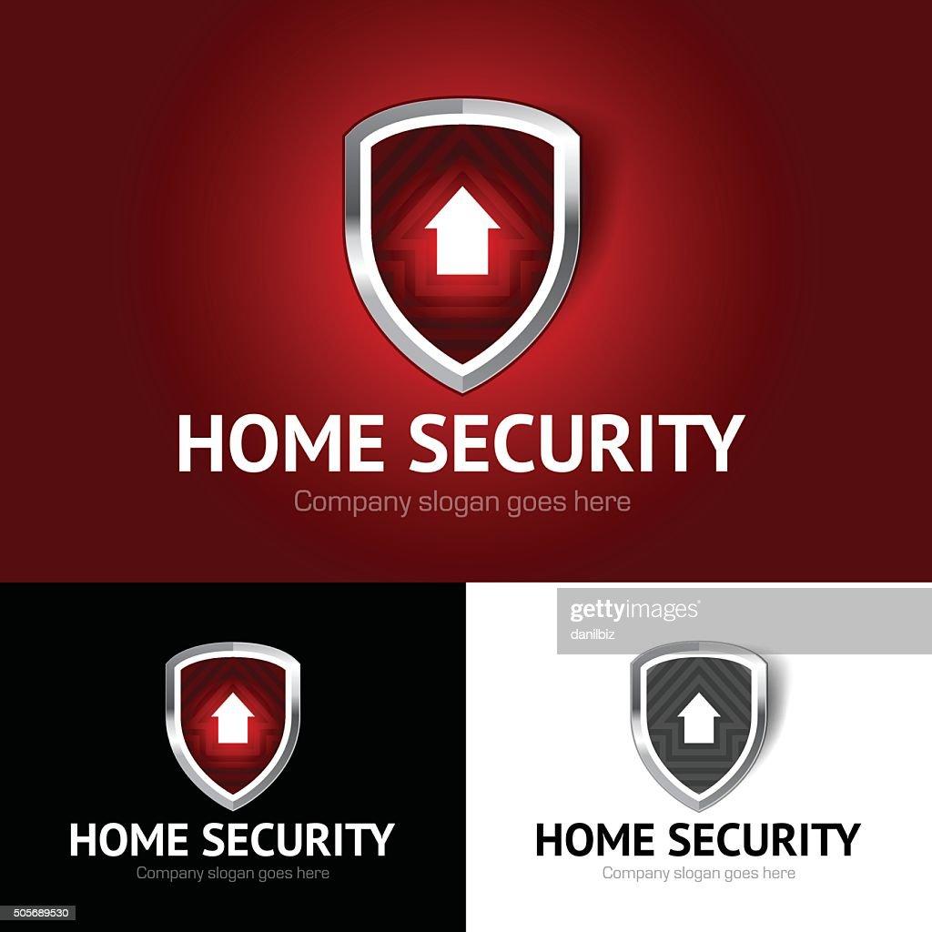 Shield home emblem, home security, real estate, house, home