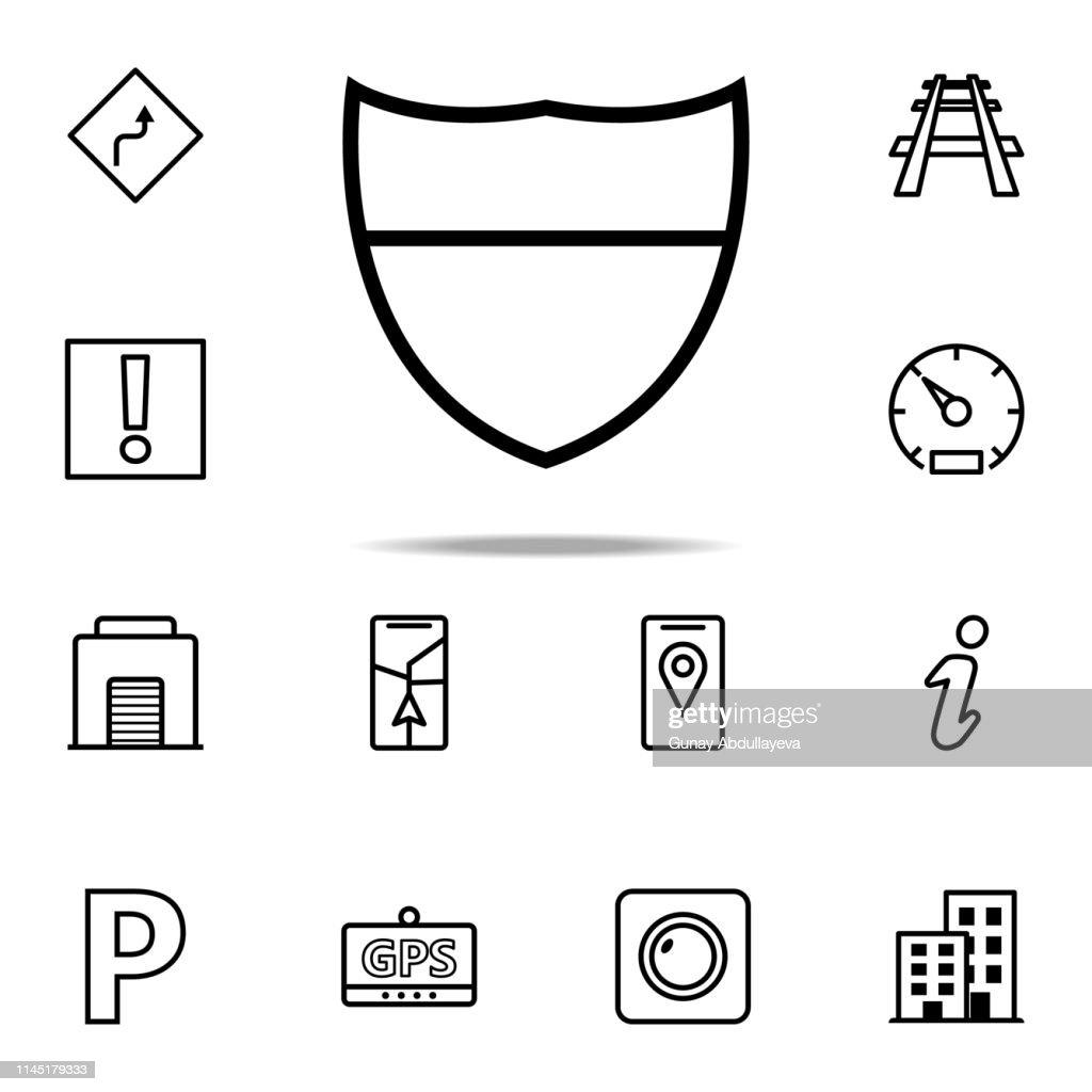 shield icon. Navigation icons universal set for web and mobile