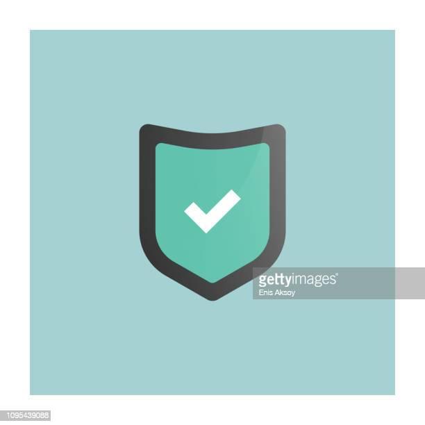 shield icon - shielding stock illustrations