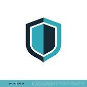 Shield Icon Vector Logo Template Illustration Design. Vector EPS 10.