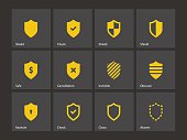 Shield icons.
