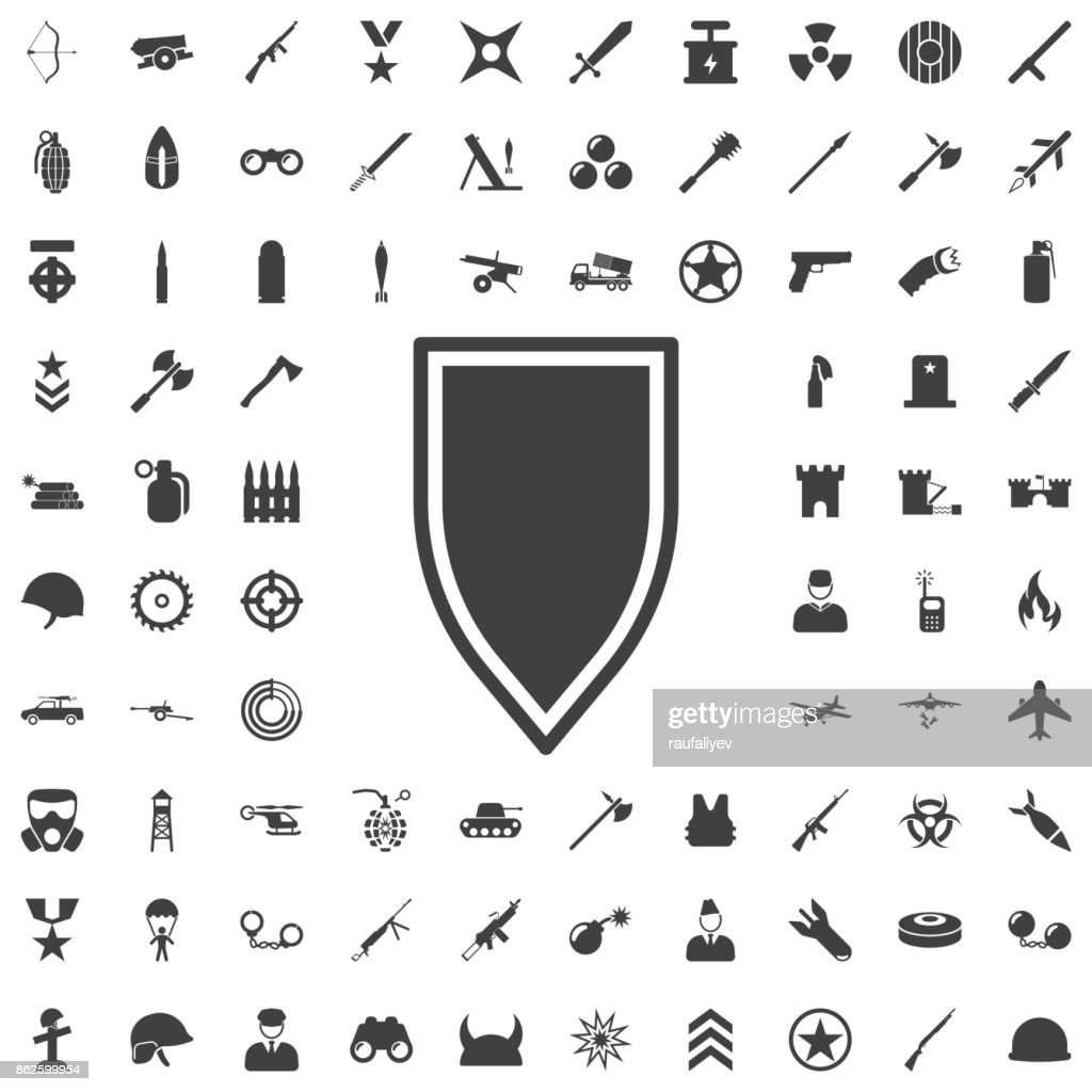 Shield in flat design. Shield icon isolated. Vector illustration