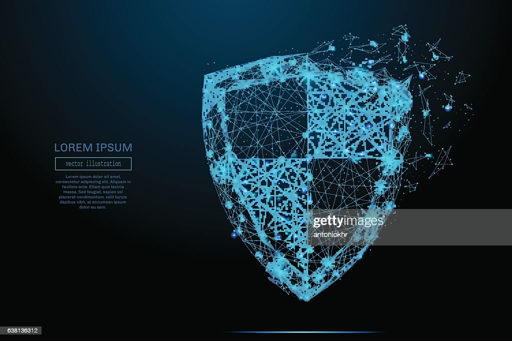 shield vector blue