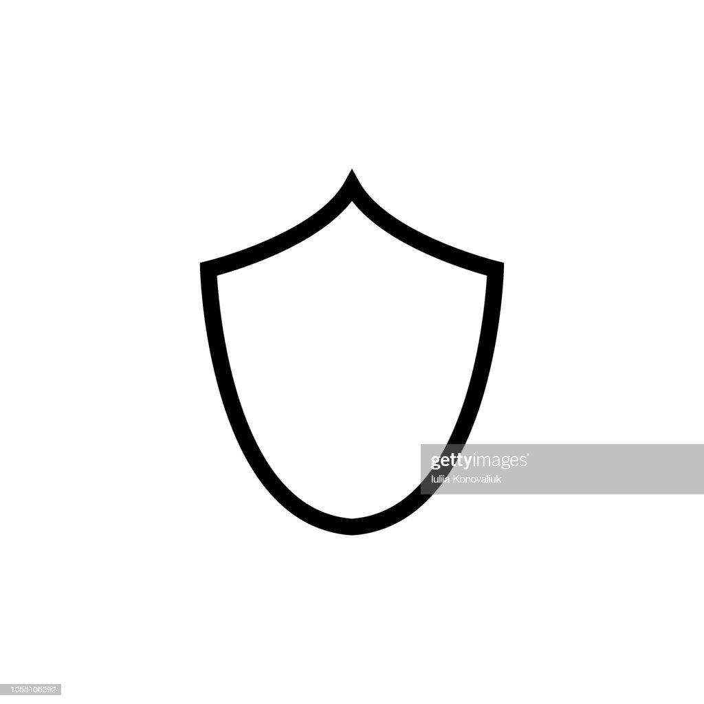 Shield vector icon