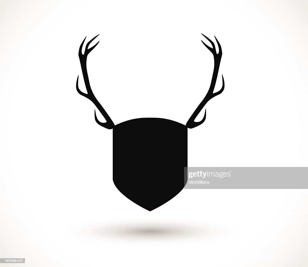 Shield with antlers vector