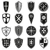 Shields icons set