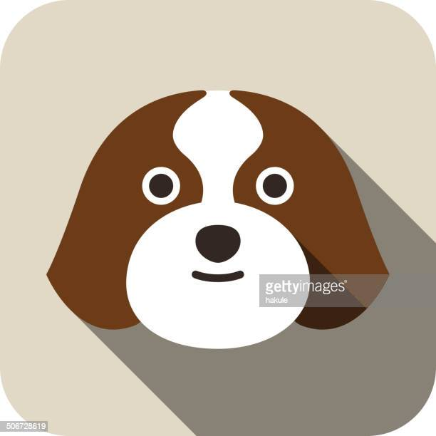 Shih Tzu dog face flat icon