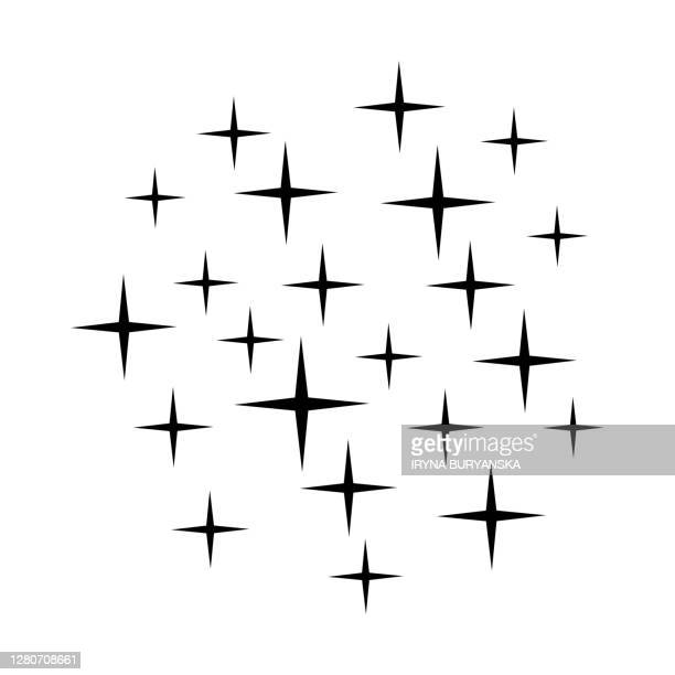 shine background sparkles isolated white black