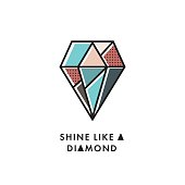 Shine like a diamond cute vector postcard