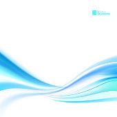 Shining blue flow