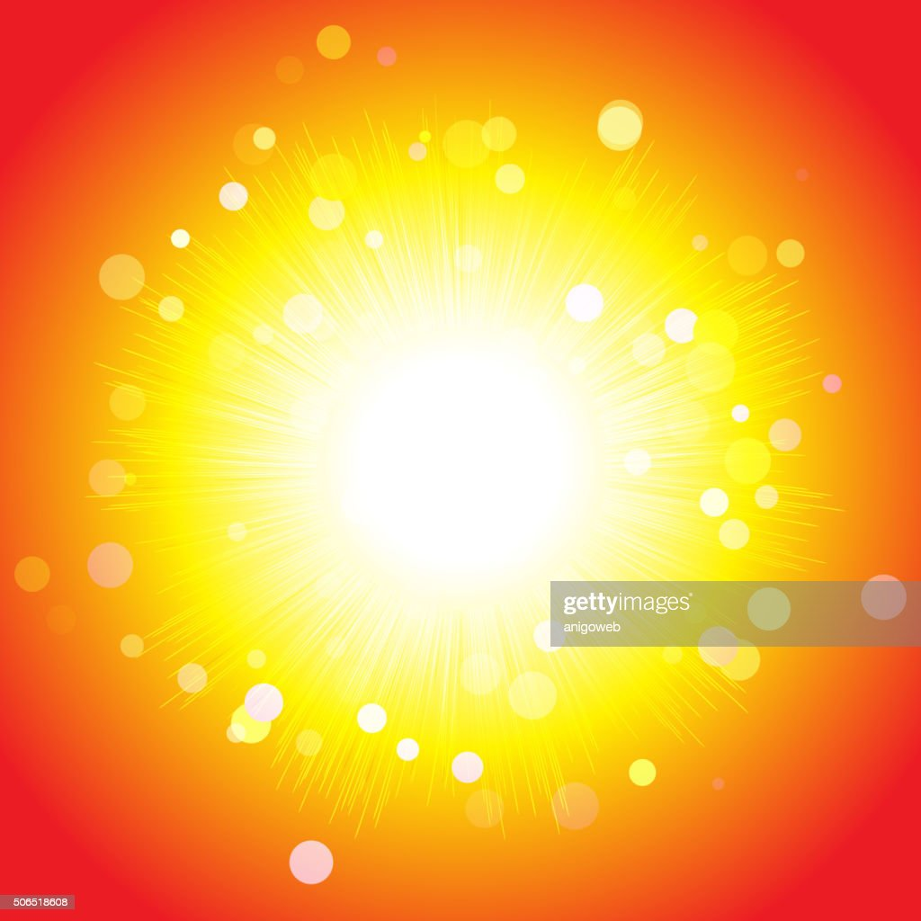 Shining bright sun