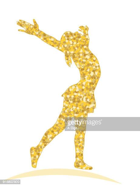 shining like a star dancer - gymnastics stock illustrations