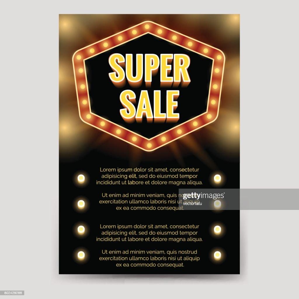 Shining super sale brochure flyer template