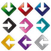 Shiny Arrow Icon Badges